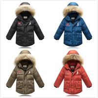 Children Down Jacket Winter Outerwear For Kid Boy Fashion Fur Collar Coat Warm  coat winter jacket  children's winter jacket