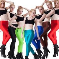 Autumn Waist Sides Zipper Legging Candy Color Women Leggings Fitness Stretched Transparent Yoga Leggings Thin Leggins S16-10
