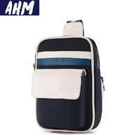 Free shipping AHM(TM) Vintage Nylon Man Bag Travel Chest Messenger Shoulder Bag Travel Utility Work Bag Messenger Bag A010