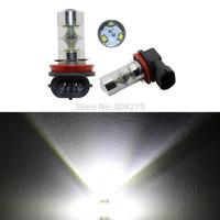 NEW Arrival! 2pcs 45W H8 High Power 9 CREE LED Xenon White Car Fog Lights DRL Daytime Running Bulb 12V 24V