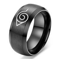 Jewellery exports Naruto cartoon logo design titanium steel rings personalized rings