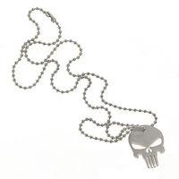 Titanium Ti Punisher Cool Charm Pendant Necklace Skull Skeleton Design EDC