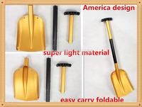 NEW  HOT  2014  winter super light  aluminum  retractable  and portable snow shovel for garden and car  2pcs/lot