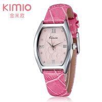 luxury Brand KIMIO Fashion Women Wristwatches Original Japan Quartz Watches Casual Leather Clock For christmas gift Dress watch