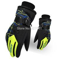 Waterproof Men Women Thermal Winter Motorcycle Ski Snow Snowboarding Gloves Free Size(L)