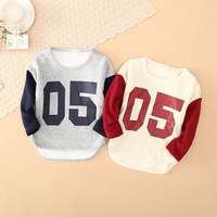 Korean children's wear wholesale 05 digital mosaic in autumn and winter the children