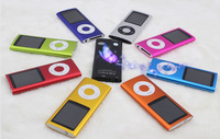 Promotion!!!8GB 4th MP4 Player 1.8inch screen E-Book,Video Radio,FM Radio 9 colors MP4 Player 300sets/lot Fast DHL free shipping