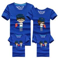 [source] new large code Amoy parent-child loaded full Jiezhuang couples dress T-shirt never abandon wholesale