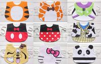 Children's cartoon mascot waterproof snap strap bib more bibs saliva towels meal Pocket bib