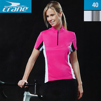 Crane women's for top cooll elastic perspicuousness breathable short-sleeve ride service 250