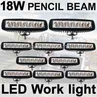 10X18W Fog light 6 inch 18W LED Work Light Bar Spot pencil Driving Lamp Off Road 4WD