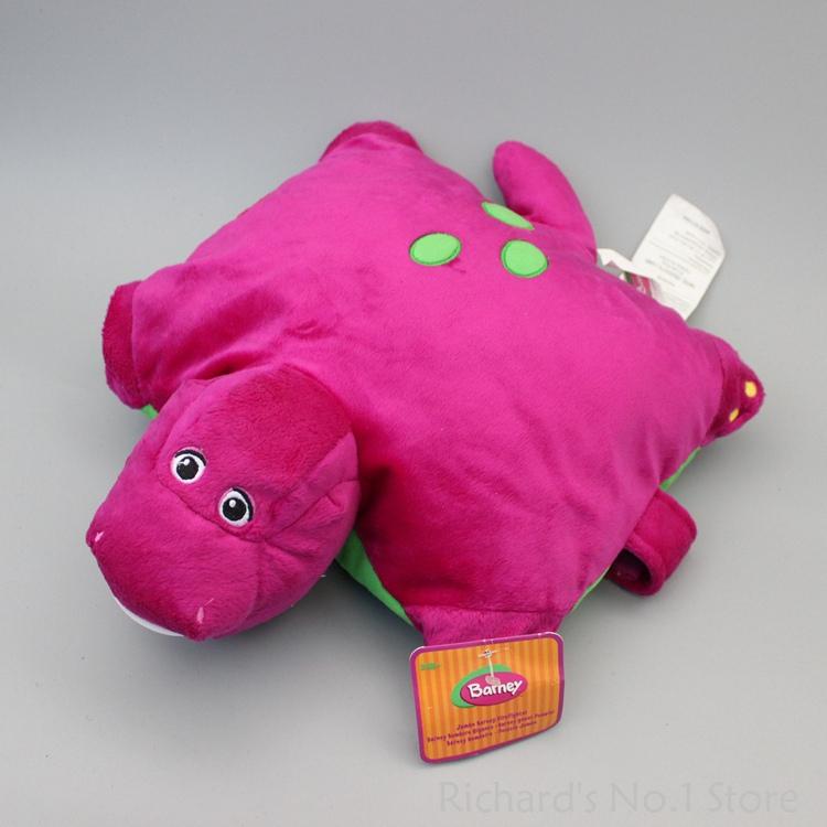 30*35 cm Barney The Dinosaur Deformation Plush Cushion Pillow Stuffed Animals Toy Doll Barney Figure 20pcs/lot(China (Mainland))