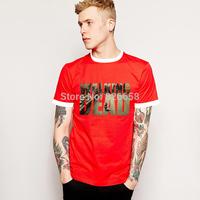 Fashion Men The Walking Dead T Shirt Cotton Free Shipping Short Sleeve Round Neck TOP Cotton Unique Design Movie Play t-shirt