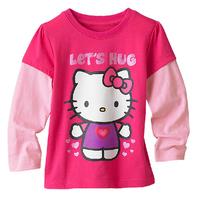 Cheap High-quality children's clothing 2014 fashion Hello Kitty baby girl autumn cotton long sleeve T-shirt top