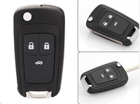 NEW Replacement Shell Flip Folding Remote Key Case Keyess Entry Fob For Chevrolet Cruze 3 Button HU100 Uncut Blade