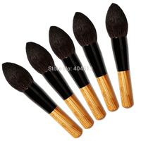 2014 Hot Sale Wholesale Fashion Powder brush flame brush 5 pcs Makeup Brushes, High quality Professional make up brush set