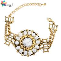 Hot New 2014 Fashion Bracelets For Women Gold Filled Bracelet Full Crystal Bohemia Bracelet Bangle Luxury Jewlery [CN904525]