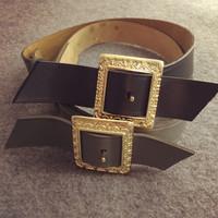women brand genuine cowhide wide elastic belt women leather wide cummerbunds