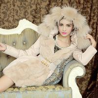 2014 Korean Women Slim temperament luxury Nagymaros collar down jacket coat