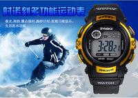 New Free Shipping 1pc SYNOKE Swimming Waterproof Men Boy Digital LED Alarm Date Sports Wrist Watch