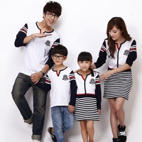 2014 parent-child loaded Hitz mother male T - shirt skirt of a family of four Outfit dress Micro message agent