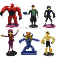 Superman Corps, BIG heros 6 BAYMAX,  Play Set 6pcs/lot PVC13cm High Action Figures Classic Toys