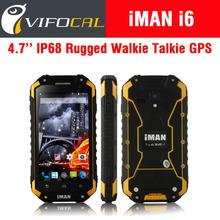 """Original iMAN i6 IP68 Walkie Talkie Rugged Phone Waterproof Shockproof MTK6592 Octa Core 4.7"""" Screen Android 4.4 2GB + 16GB GPS"""