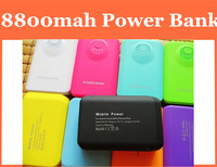 Power Bank 8800mAh PowerBank USB External Universal Battery Charger for iphone samsung galaxy s5 mobile phone free ship 100pcs
