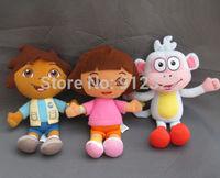 Dora the Explorer Plush Toy doll Dora Diego Monkey BOOTS New Set of 3 free shipping