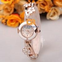 flower watch lady unique watches woman ceramic bracelet wrist brand watch fashion girl beautiful quartz watch charm female clock