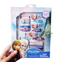 Frozen Hair Clip Set Cartoon Barrettes + Snap Clips + Elastics + Terries Lovely hair accessories headwear 41236641673 201411HL