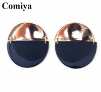 Round black punk jewelry drop vintage design christmas statement earrings for women evening party  topshop bijou Items