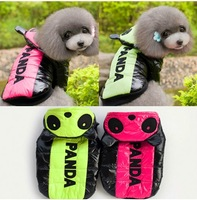 PANDA warm ski jacket Dog hooded Clothes Sport 2014 new Pet autumn winter clothing Teddy warm coat, 2 color, S/M/L/XL/XXL