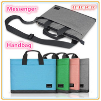 "Hot Brand Messenger Handbag Case For 12"",13"",14""15"".15.4 inch Laptop, Shoulder Bag For Macbook, 4 Colors, Free Drop Shipping."