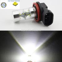NEW Arrival! 2pcs 45W H11 High Power 9 CREE LED Xenon White Car Fog Lights DRL Daytime Running Bulb 12V 24V