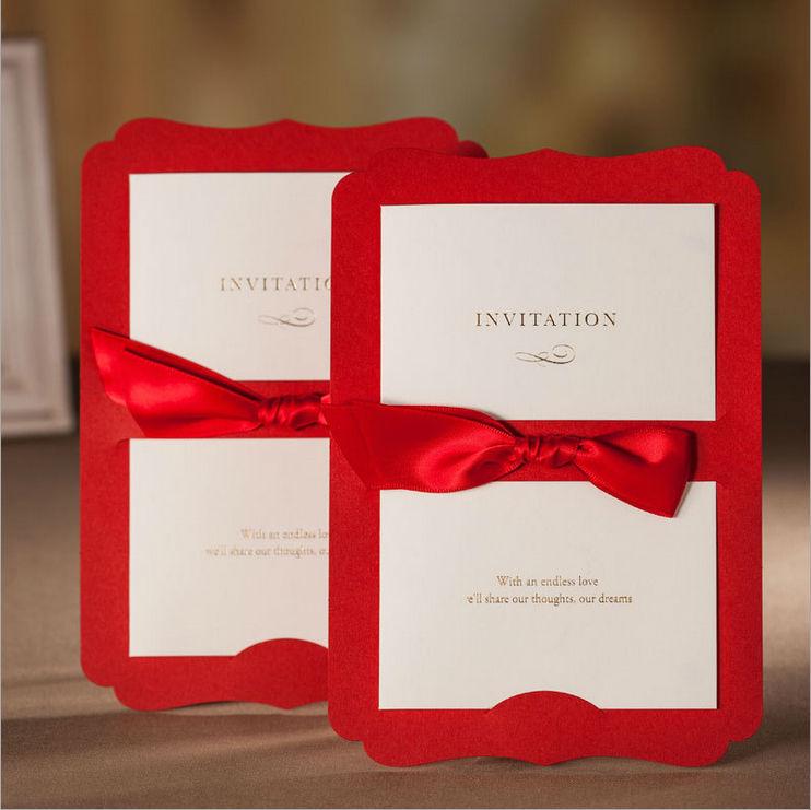 Grátis frete Laser Cut livro vermelho da fita artesanato detalhes no cartão do convite de casamento elegante(China (Mainland))