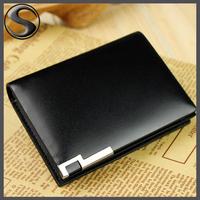 Male Genuine Leather Brief Fashion Short Design Men's Wallets Card Holder Cowhide Wallet Men Fashion Card Holder