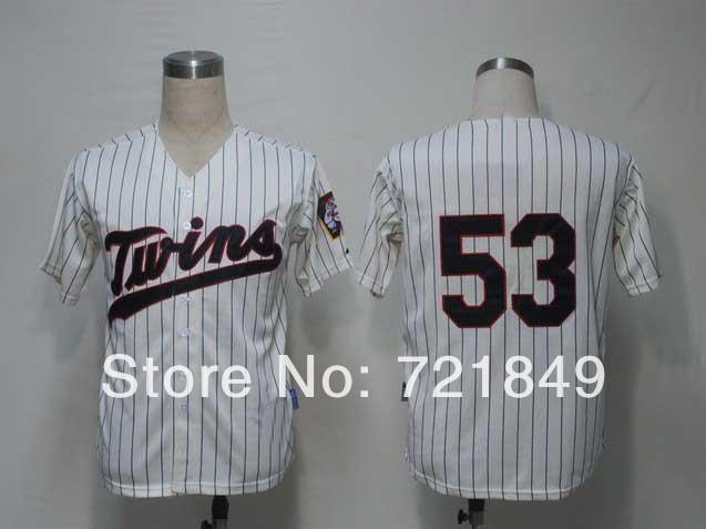 Christmas Shopping Online/ Minnesota Twins 53# Nick Blackburn blue Baseball Jerseys cool base Embroidery logos Free Shipping(China (Mainland))