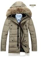 2014 new fashion sportswear warm duck down jacket with coat winter jacket men famous brand for outdoor winter coat men
