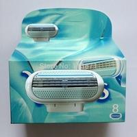 top quality Brand ladies's Shaving Razor Blades For Women face care Female Sharpener V 8pcs/lot   in Original package