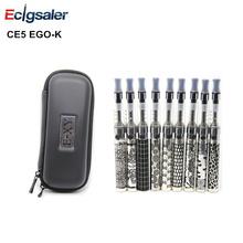 1pcs/lot High quality EGO CE5 e-Cigarette Starter Kits EGO 1.6ml CE5 With 900mAh eGo Engraved battery for Zipper Case EGO Kit