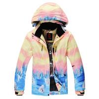 2014 womens skiing jacket rossignol pink and yellow snowboard jacket skiwear snow coat waterproof windproof super warm free ship