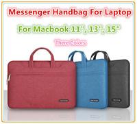 """Hot Brand Messenger Handbag Sleeve Case For Macbook Air Pro 11"""",13"""",15 inch, Shoulder Bag For Same 14"""" Laptop,Free Drop Shipping"""