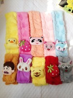 Free Shipping 2014 New Lovely Unisex Winter Kids Cartoon Scarves 0-2 years Baby Push Animal 78 cm length boys / girls warm scarf