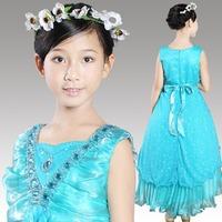 Free Shipping High Quality New Fashion Female Children Formal Dress For Wedding Vestido de Daminha Flower Girl Dresses