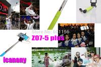 2014newest Z07-5 plus Moblie Phone Monopod Audio Cable Take Pole Selfie Stick Entendable Handheld Tripod For  Smart Phone