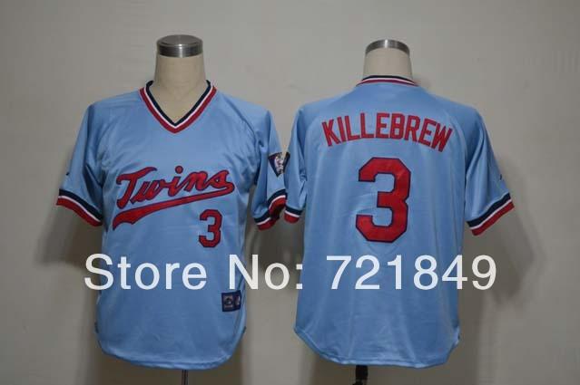 Christmas Shopping Online/2011 New Minesota Twins jerseys # 3 Killebrew White jerseys size 48-56(China (Mainland))