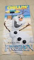 Frozen Olaf Cartoon Baby Bath Towel Children Beach Bath Towel 60*120cm Frozen Olaf Bath Towel For Girl Gift Free Shipping