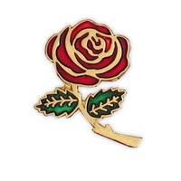 25.4mm,Hot sale 2014 rose pins, metal pin,1pcs/opp bag, iron,brass plate,painted and epoxy,customized, MOQ300pcs, fee shipping