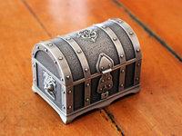 Handwork  tin alloy jewelry boxes,Pirates of the Caribbean treasure lion jewelry box storage box  free shipping